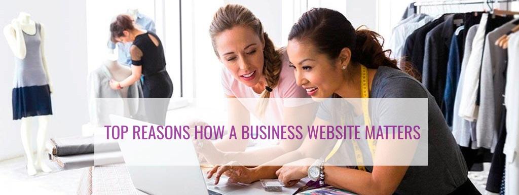 website, business website